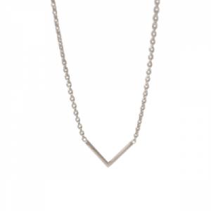 """""""Trinity"""" V - Necklace - Silver"""