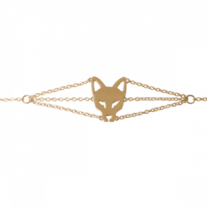 """Cityfox"" Head - Bracelet - Gold"