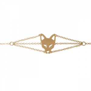 """Cityfox"" Head - Bracelet - Gold"