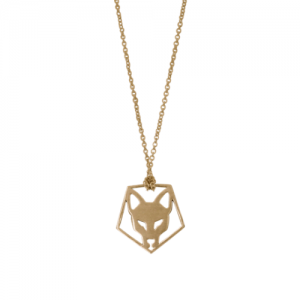 """Cityfox"" Head Pentagon - Necklace - Gold"