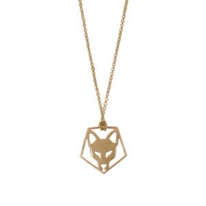 """Cityfox"" Head Pentagon - Necklace - Gold"