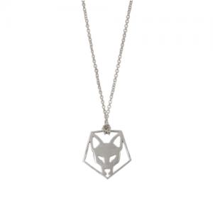 """""""Cityfox"""" Head Pentagon - Necklace - Silver"""