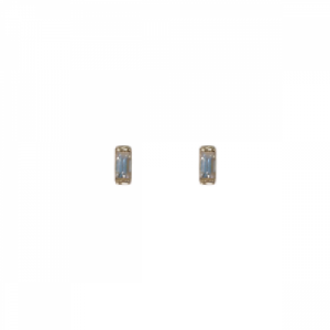 """Baguette"" Diamond - Stud Earring - 18 Karat Gold"