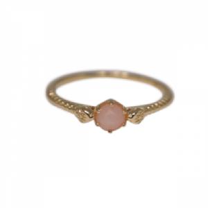 """""""Garden Eden"""" Snake Pink Opal - Ring - 18 Karat Gold"""