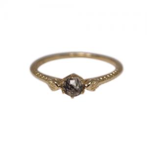 """Cleometra"" Snake Rutilquarz - Ring - 18 Karat Gold"