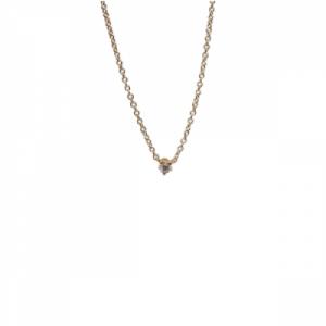 """Solitaire"" Diamond White - Necklace - 18 Karat Gold"