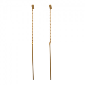 """Stripes & Joist"" Bar Set - Stud Earring - Gold"