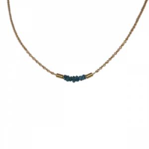 """Rocks"" Blue Rough Diamond - Collier - Gold"