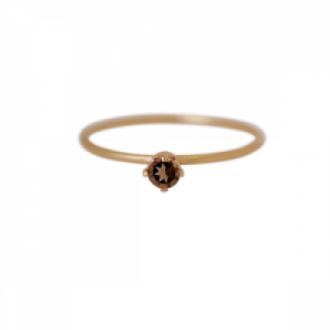 """Solitaire"" Smoky (S) - Ring - Gold"
