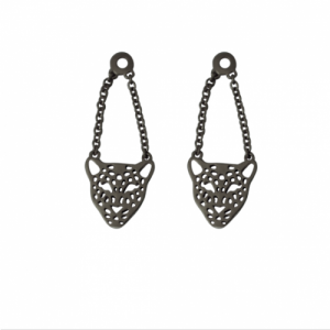 """Panthera"" Head - Earring Accessoires - Ruthenium"