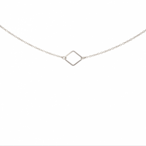 """Opalia"" Rhombus Minimal - Collier - Silver"