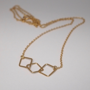"""Opalia"" Rhombus Trial - Collier - Gold"