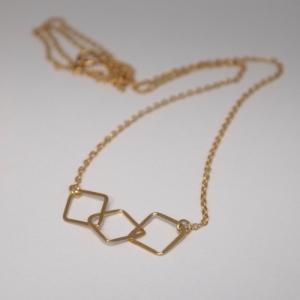 """Opalia"" Rhombus Trial - Collier - Gold"