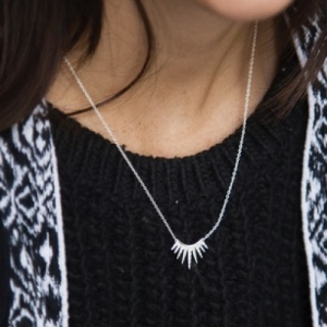 """Cleometra"" Sun - Necklace - Silver"