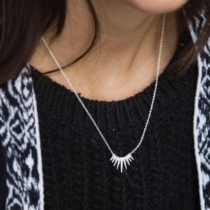 """""""Cleometra"""" Sun - Necklace - Silver"""
