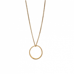 """Curvaceous"" FlatRound - Necklace - Gold"