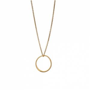 """""""Curvaceous"""" Solar Eclipse - Necklace - Gold"""