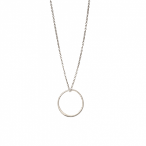 """Curvaceous"" FlatRound - Necklace - Silver"