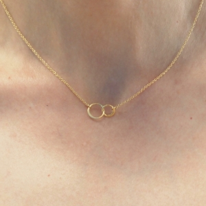 """Curvaceous"" FlatRound Infinity - Collier - Gold"