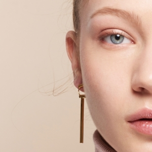 """Tube-Deco"" Classic - Stud Earring - Gold"