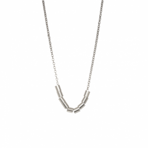 """Tube-Deco"" Ten - Necklace - Silver"