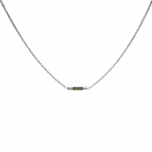 """Tube-Deco"" Turmalin - Collier - Silver"