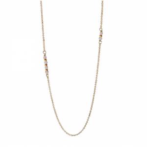 """""""Un-Deux-Trois"""" Jade White - Necklace - Gold"""