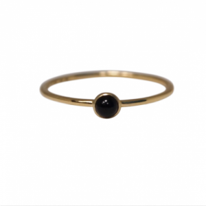 """Petit Point"" Onyx Petit - Ring - 18 Karat Gold"