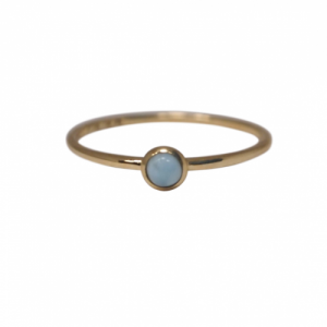 """Petit Point"" Larimar Petit - Ring - 18 Karat Gold"