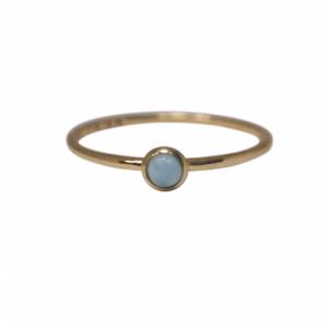 """""""Petit Point"""" Larimar Petit - Ring - 18 Karat Gold"""