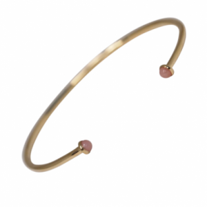 """Petit Point"" Pink Opal Petit - Bangle - 18 Karat Gold"
