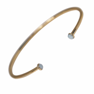 """Petit Point"" Larimar Petit - Bangle - 18 Karat Gold"