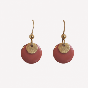 """Spot"" Terra/Gold - Earring - Gold"