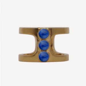 """Petit Point"" Lapislazuli Orion - Ring - Gold"