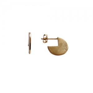 """Paillette"" 3/4 - Stud Earring - Gold"