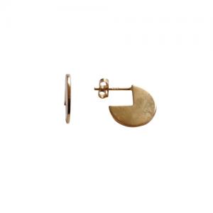 """""""Paillette"""" 3/4 - Stud Earring - Gold"""