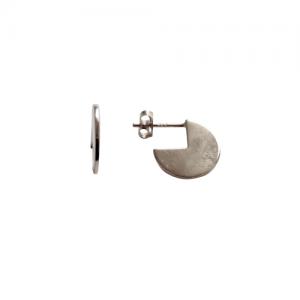 """""""Paillette"""" 3/4 - Stud Earring - Silver"""