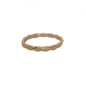 """Opalia"" Rhombus Pattern - Ring - Gold"