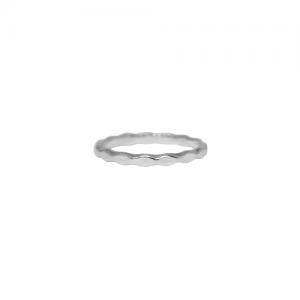 """Opalia"" Rhombus Pattern - Ring - Silver"