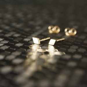 """""""Opalia"""" Rhombus Tiny Full - Stud Earring - Gold"""