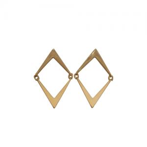 """""""Opalia"""" Arrow - Stud Earring - Gold"""