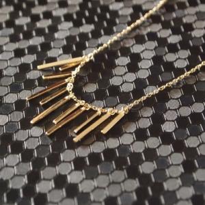"""""""Stripes & Joist"""" Eleven Orbit - Collier - Gold"""