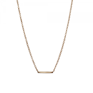 """Stripes & Joist"" Bar - Necklace - Gold"