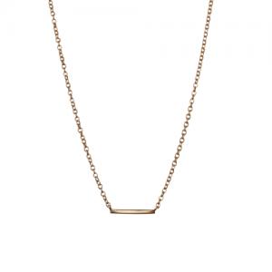 """Stripes & Joist"" Bar - Necklace - Gold"