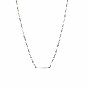 """Stripes & Joist"" Bar - Necklace - Silver"