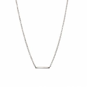 """Stripes & Joist"" Bar - Necklace - Silver"