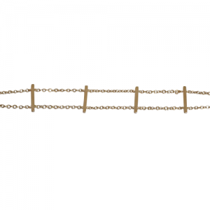 """Stripes & Joist"" Bar Row - Bracelet - Gold"