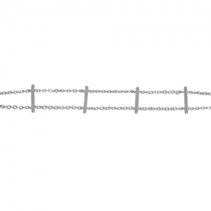 """Stripes & Joist"" Bar Row - Bracelet - Silver"