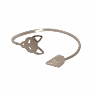 """Cityfox"" Classic - Bangle - Silver"