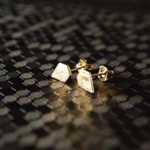 """""""Cityfox"""" Rear - Stud Earring - Gold"""